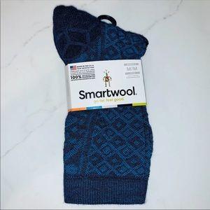 SmartWool Blue 'Lily Pond Pointelle' Crew Socks